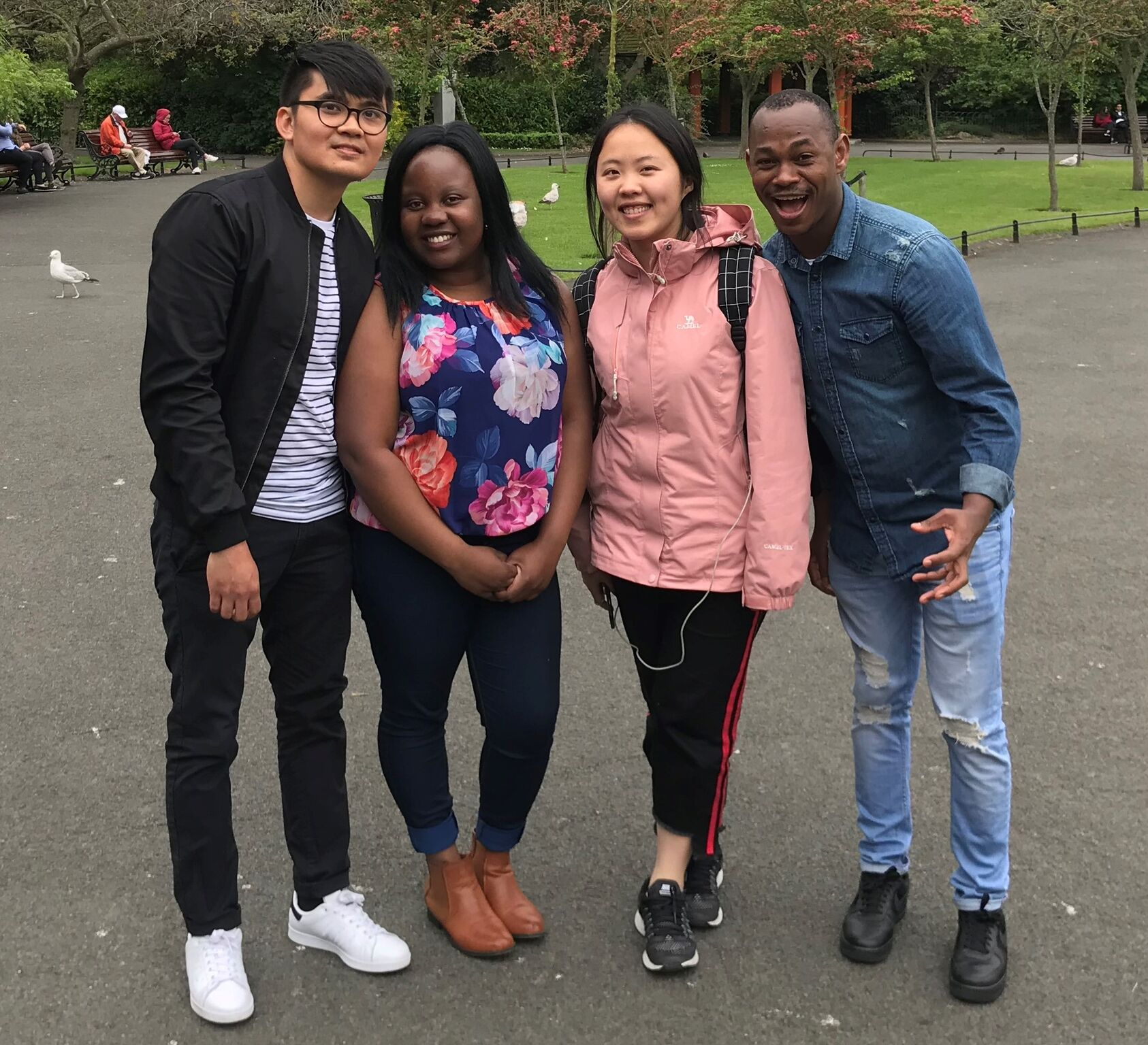 Global Fellows serving in Ireland, 2019.  L-R: Carlos (Philippines), Nyasha (Zimbabwe), Dorcas (East Asia) & Neo (South Africa)