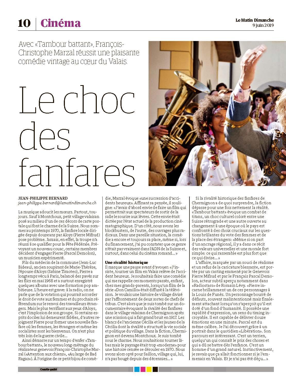 Le Matin Dimanche - 19 Juin 2019 (Page 1)