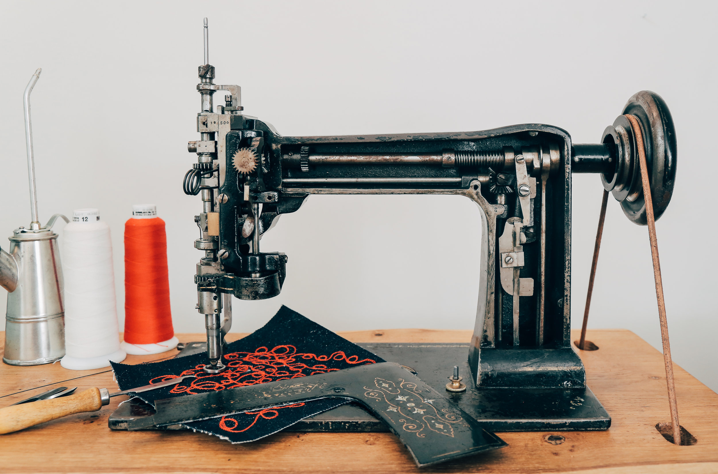 Lintz & Eckhardt 11 Cornely K vintage chain stitch embroidery machine 6
