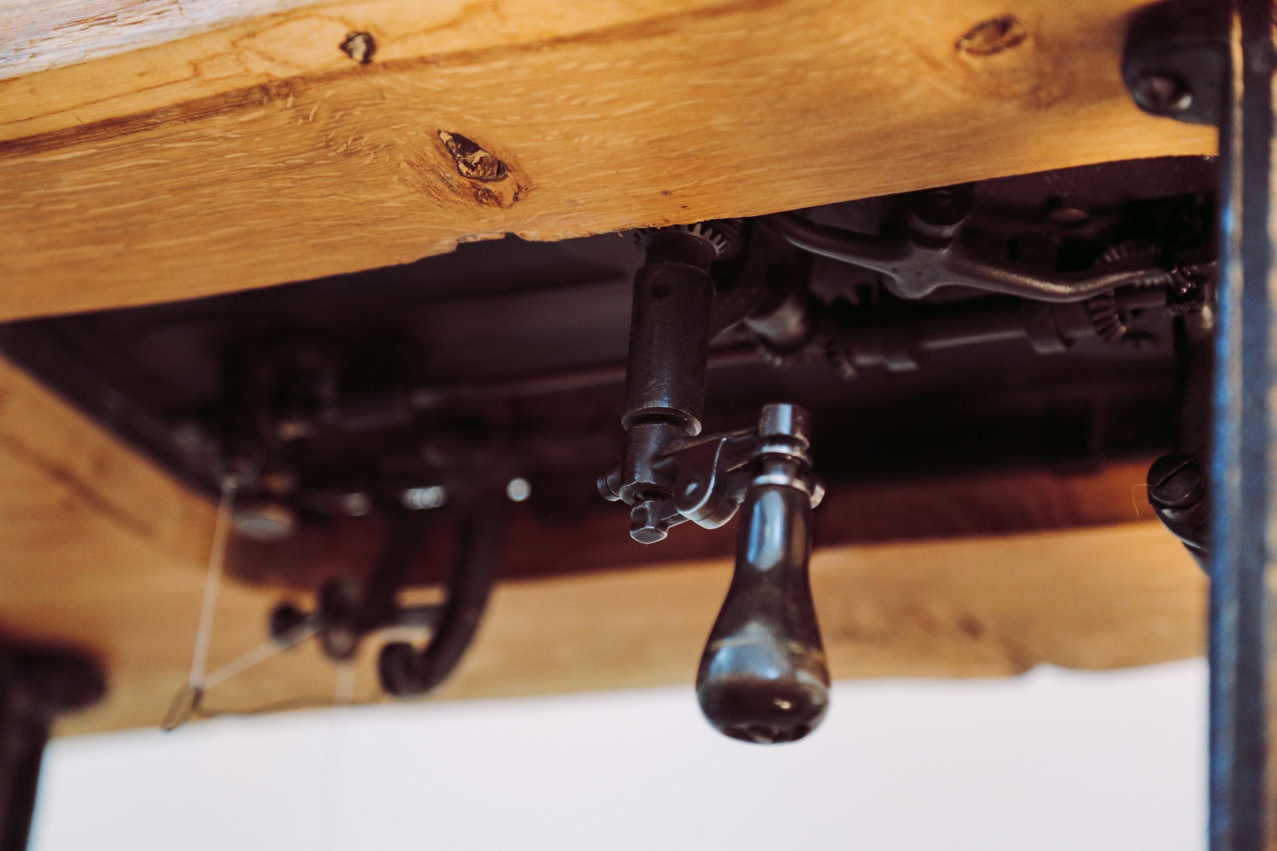 Cornely A Handcrank Steering Knob Saintchains Chainstitch Machine