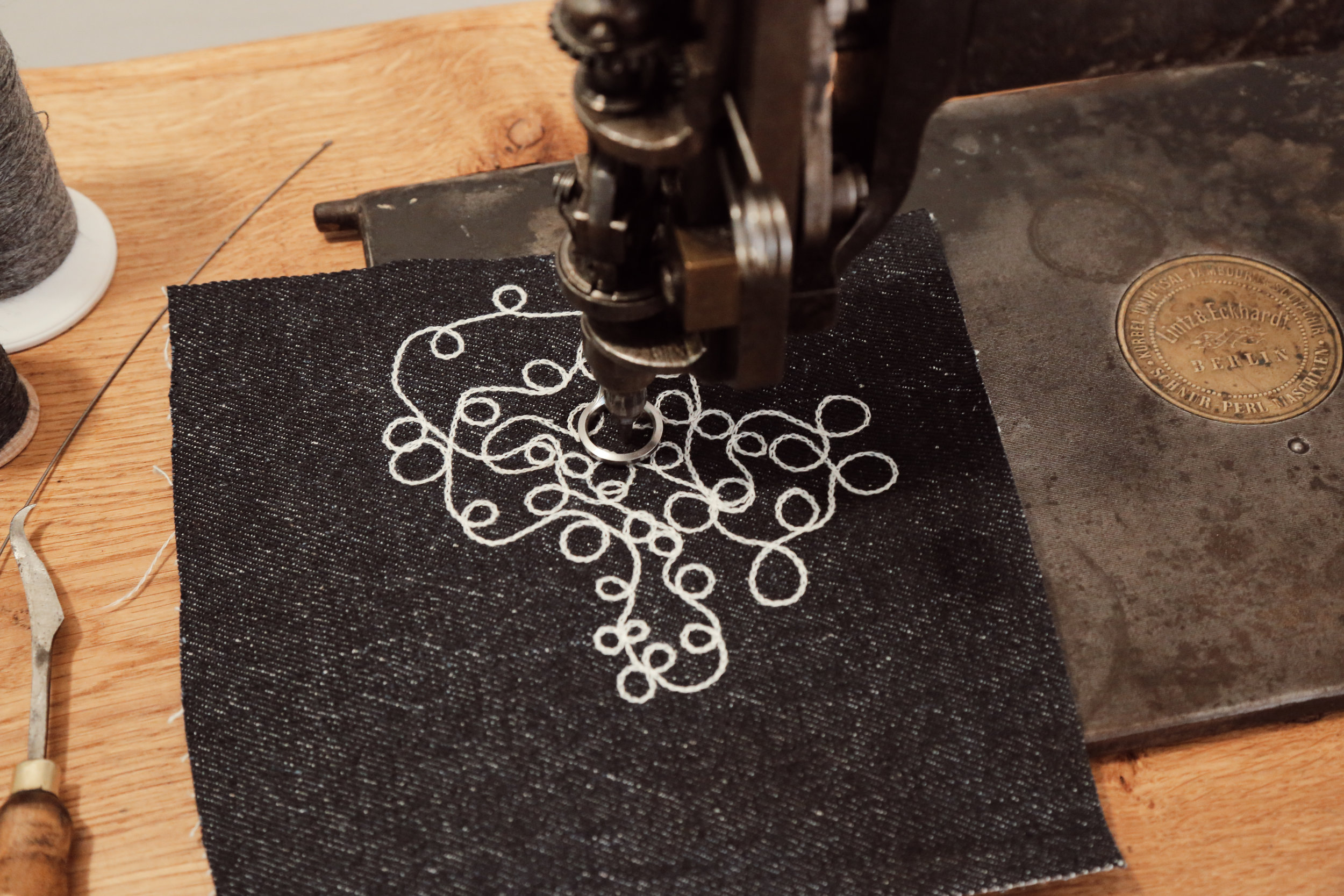 Chainstich Machine Chain Stitch Handcrank Saint Chains Kurbelstickmaschine Stickmaschine