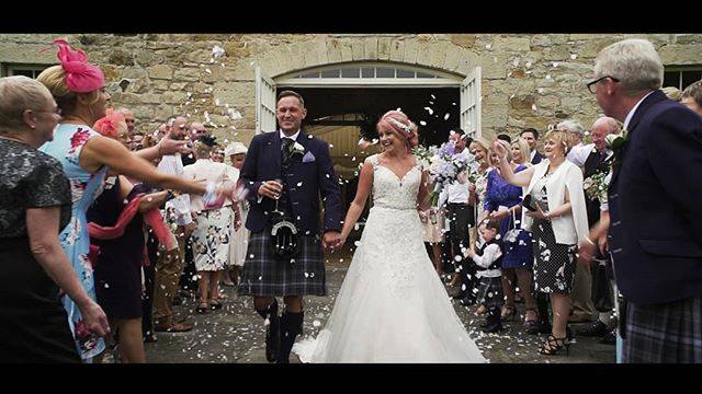 Always nice to have a bit of confetti!  Kirsty and Derek at @kirknewtonstables  #sunnywedding #scottishweddingfilm #kirknewtonhousestables #kirknewtonstables #visitscotland #edinburghweddingvideo #edinburghweddingvideographer #edinburghweddingvideo #edinburghweddingvideo #cinematicwedding #weddingfilm #engaged #theknot  #bridesmaid #engagement #blushingbride