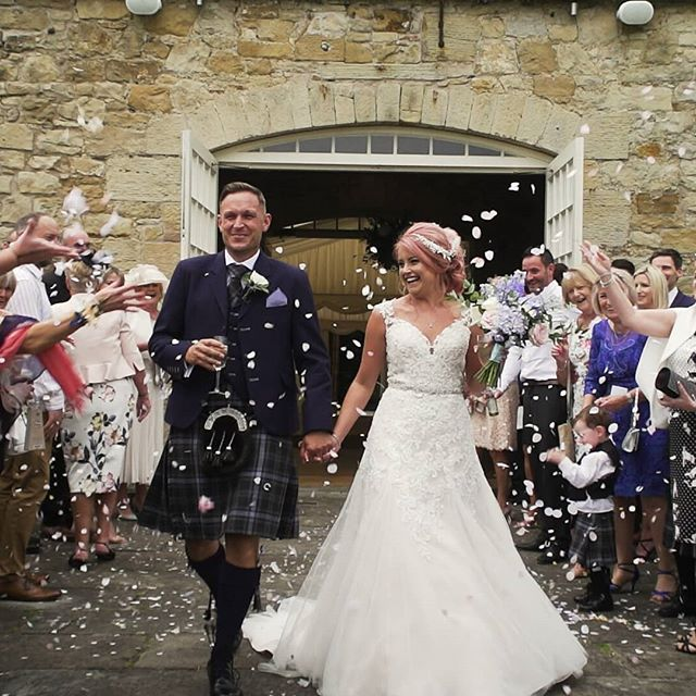 Confetti shots.  Always good for video but always a rush to get to the right position in time!  #kirknewtonhousestables #kirknewtonstables #Kirknewton #edinburghweddingvideo #scottishweddingfilm #confetti #weddingfilm #engaged #engagementring #engaged #bridesmaid #weddingday #weddingdress #wedding #weddingmakeup #weddinginspiration