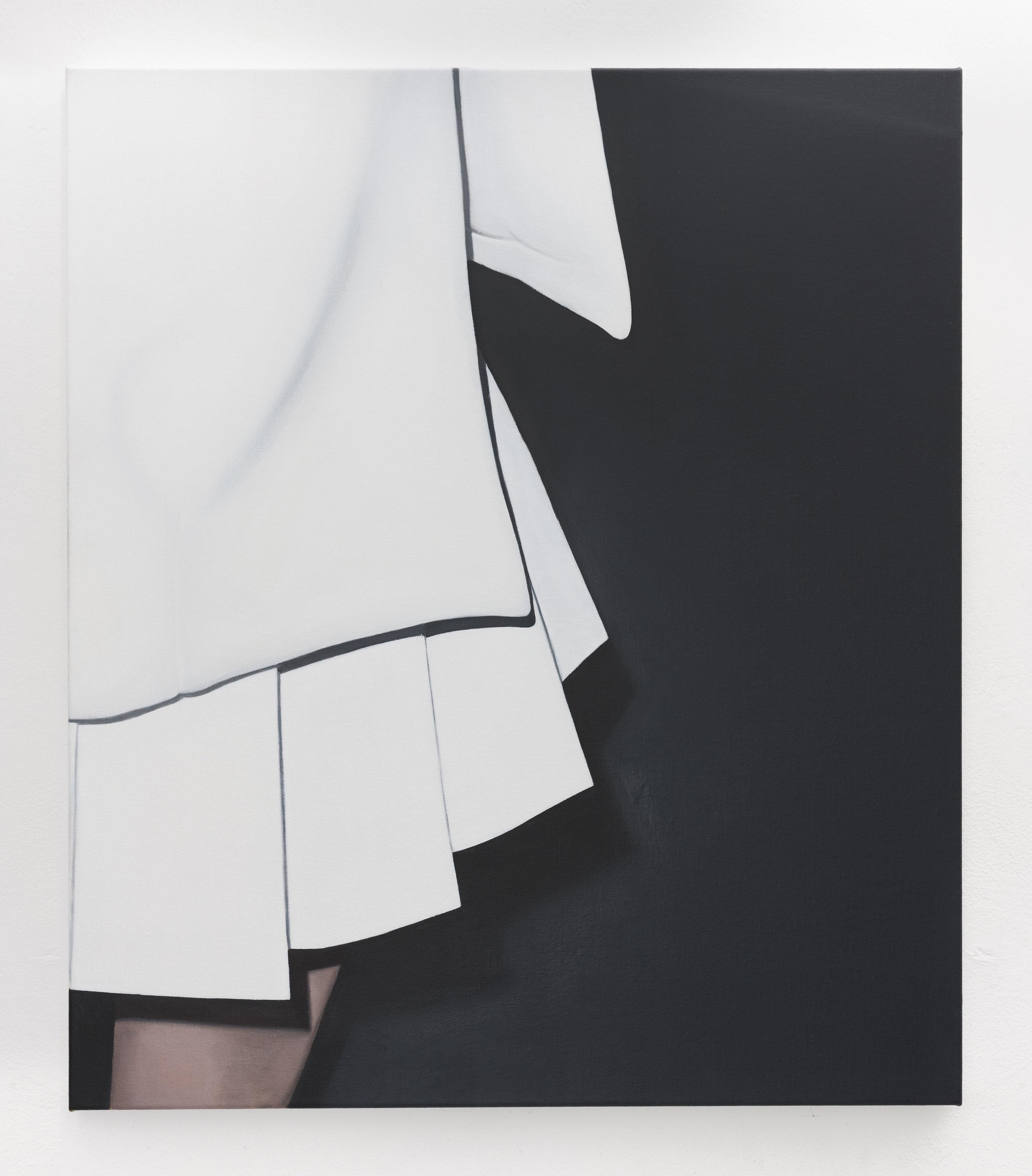 White Dress III | 2018 | oil on linen | 70 x 60 cm | 27.6 x 23.6 in | Photo Lee Welch