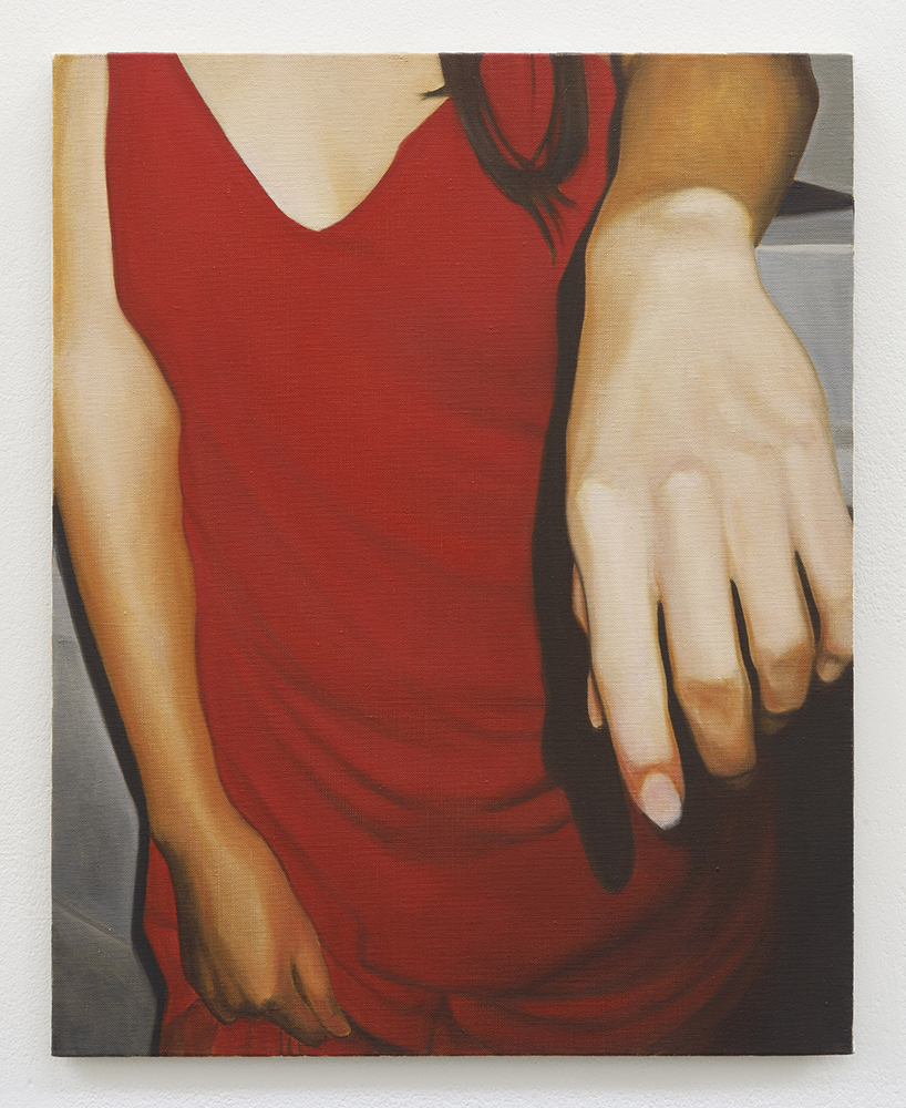 Red dress | oil on linen | 50 x 40.5 cm | Private Collection
