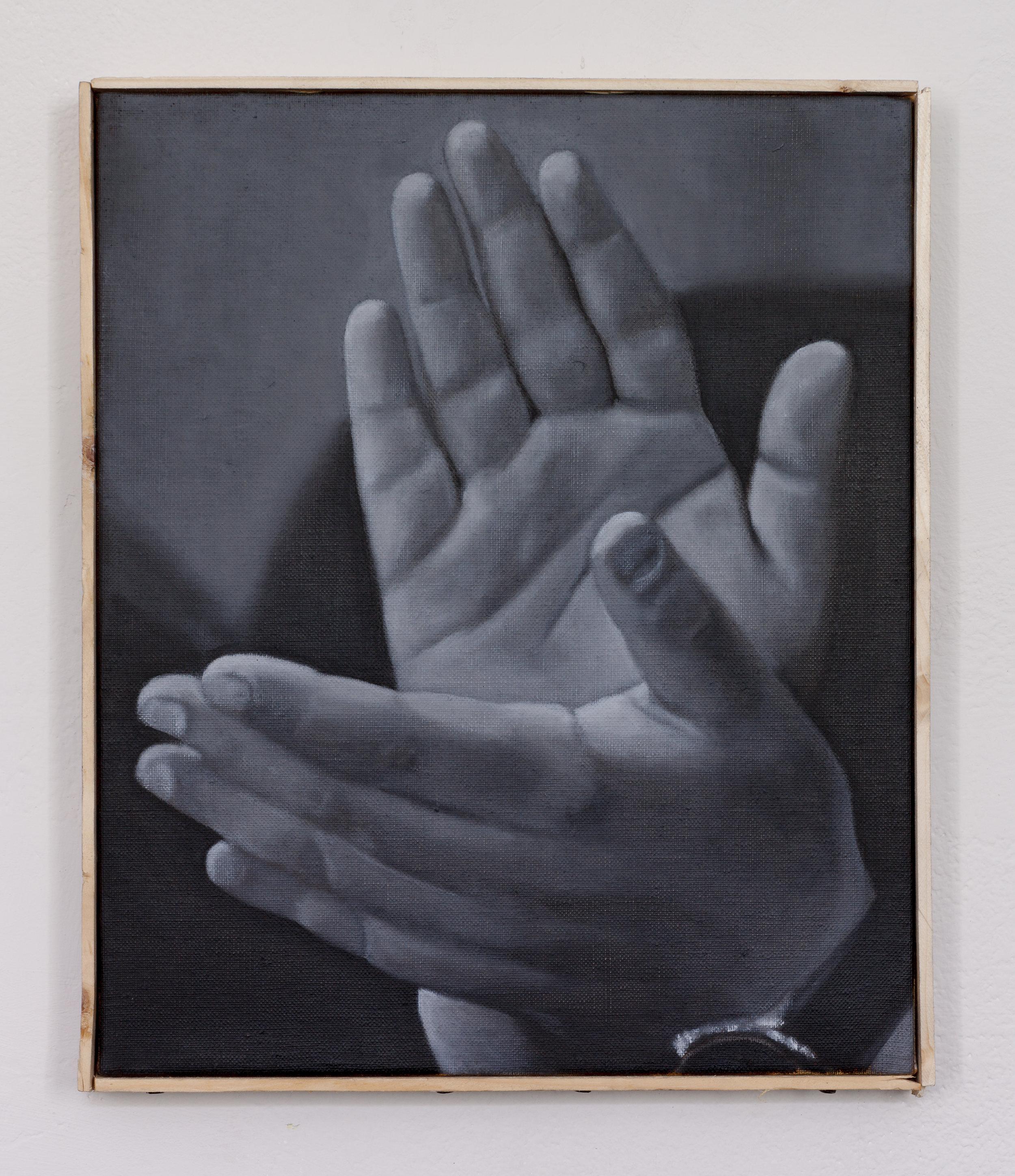 Hand clap   oil on linen   30 x 25cm