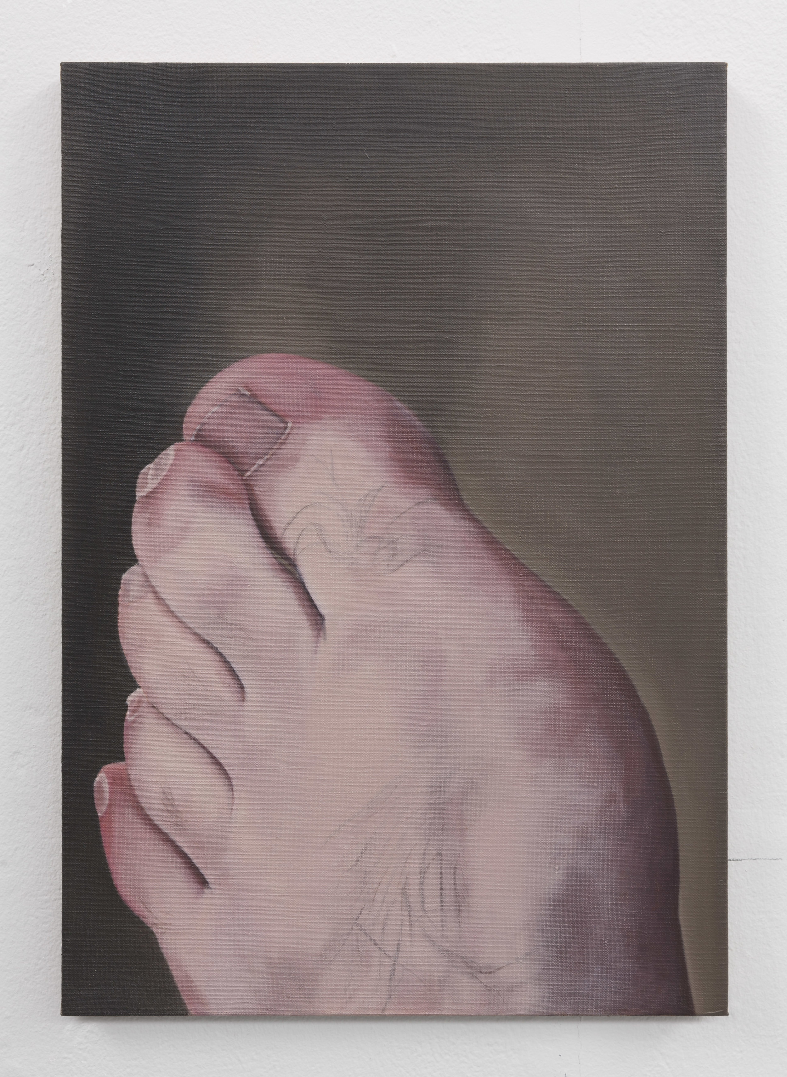 The Artist's Foot | 2018 | Oil on linen | 52.5 x 37.5 cm | Photo Lee Welch