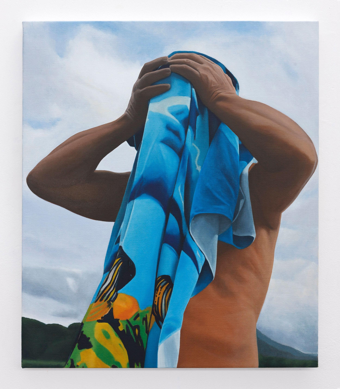 À la plage (Dad 1946 - 2018) | 2019 | oil on linen | 70 x 60 cm | Photo Lee Welch