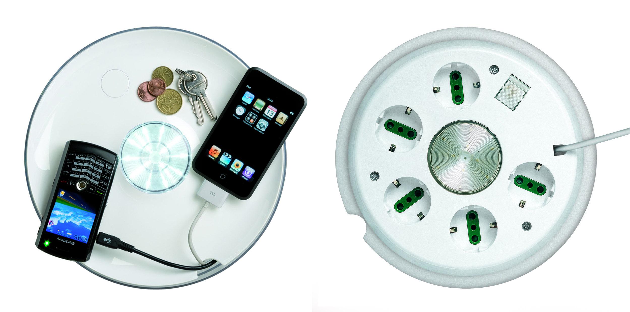 Multipot - Rotaliana, 2005 con Dante DoneganiLa forma è quella di un vaso, la funzione è multipla: un vassoio porta oggetti, un hub di ricarica nascosto, un vaso per la raccolta cavi, luce d'accento. Nel 2015 la nuova versione Multipot + ha luce LED RGB con interruttore touch sensitive dinamico, prese USB.Nel 2008 è stato segnalato al XXI° premio Compasso d'Oro ADI.