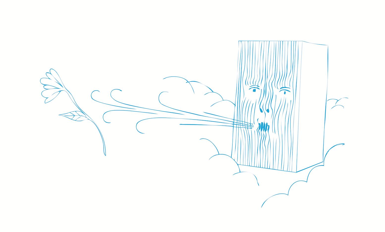 Eolo - Rotaliana, 2009con Dante DoneganiE' una piccola lampada antropomorfa che diffonde luce cromatica e profumi ambientali. Il parallelepipedo è inciso sottili lamelle che modellano i lineamenti di un volto che soffia aria profumata . Come il dio dei venti - a volte impetuoso a volte delicato- Eolo rilascia il profumo prescelto in maniera graduale o intensa in accordo con l'umore del momento e la tonalità di colore.