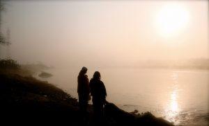 fog on river Ganga