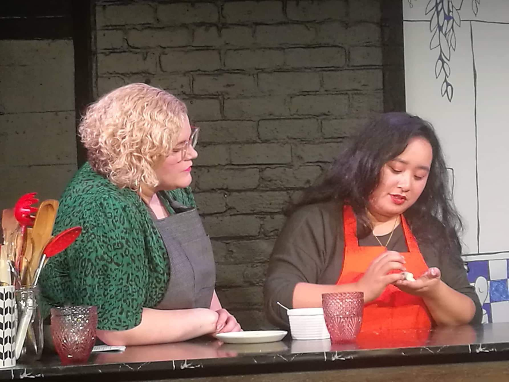 Tuesday 11 - Lucy Zee in the kitchen showing us the perfect dumpling fold.JPG