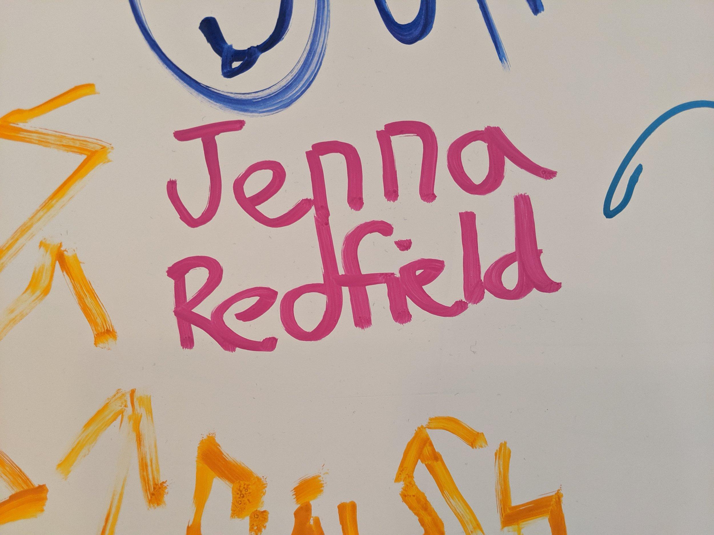 You did it Jenna!