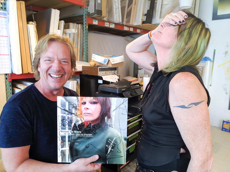 Thank you Venus for the signed record! As you can see, Jim reverted back to his 12 year old self - he was so excited!
