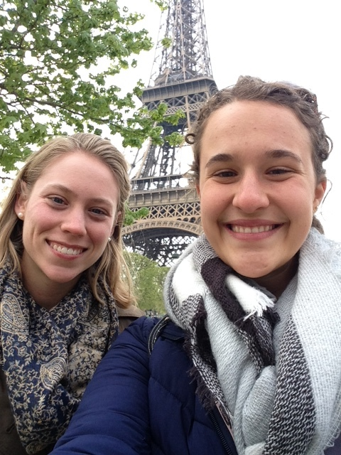 Emma studying abroad in France.