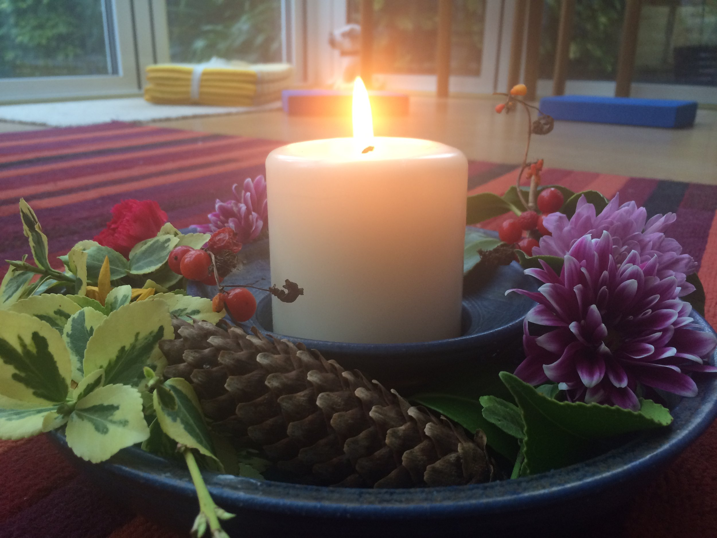 early morning candle
