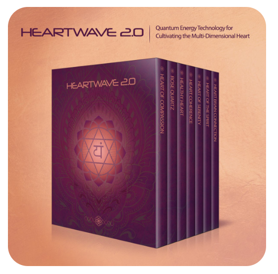 Heartwave 2.0 (Heart Coherence Mandalas) - I have these print-outs underneath my chair where I sit with clients, to consistently support the coherence that I'm consciously cultivating. This is support for the multidimensional heart, with heart/brain coherence mandalas/subtle energy technology. This positively affects the physical heart, the heart-brain connection, the energetic heart (heart chakra), the high heart (thymus chakra), the spiritual heart (the heart on the right).