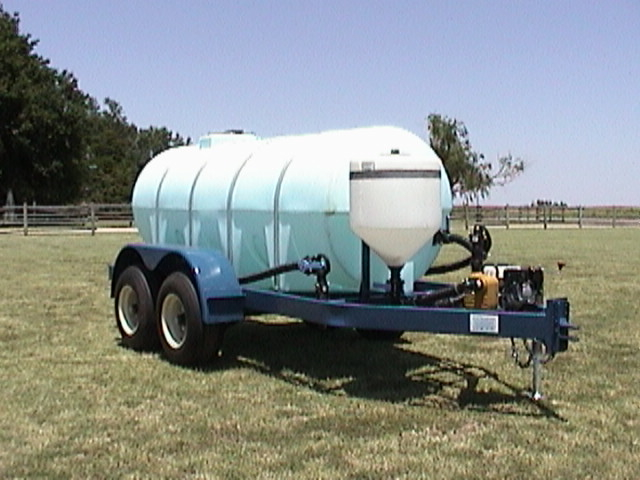 "1010 Cone Bottom Nurse Trailer - Standard Trailer: 2"" x 6"" x 3/16"" Tubing Main Frame • 6"" Channel Iron Cross Members Adjustable Hitch Safety Chains • 3500# Spindles, 6-Bolt 7000# Axles • 11L x 15 8-ply Tires on 10"" Rims • Jack • Slipper SpringsOptions: Premium or heavy duty tank • pump/motor • lights • fenders • 16"" wheels on 10-ply highway tires • 2 5/16"" ball • electric brake (1 axle) • Gooseneck pull hitch • 15 or 35 gallon inductor tank • extended frame for chemical shuttle"