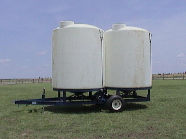 "DuaL Cone Bottom Trailer - 2-3000 Gallon Cone Bottom Tanks w/ 3 year warranty. Hydraulic Lift/LightsSafety Chains/ 3"" plumb w/ 2"" adapter"