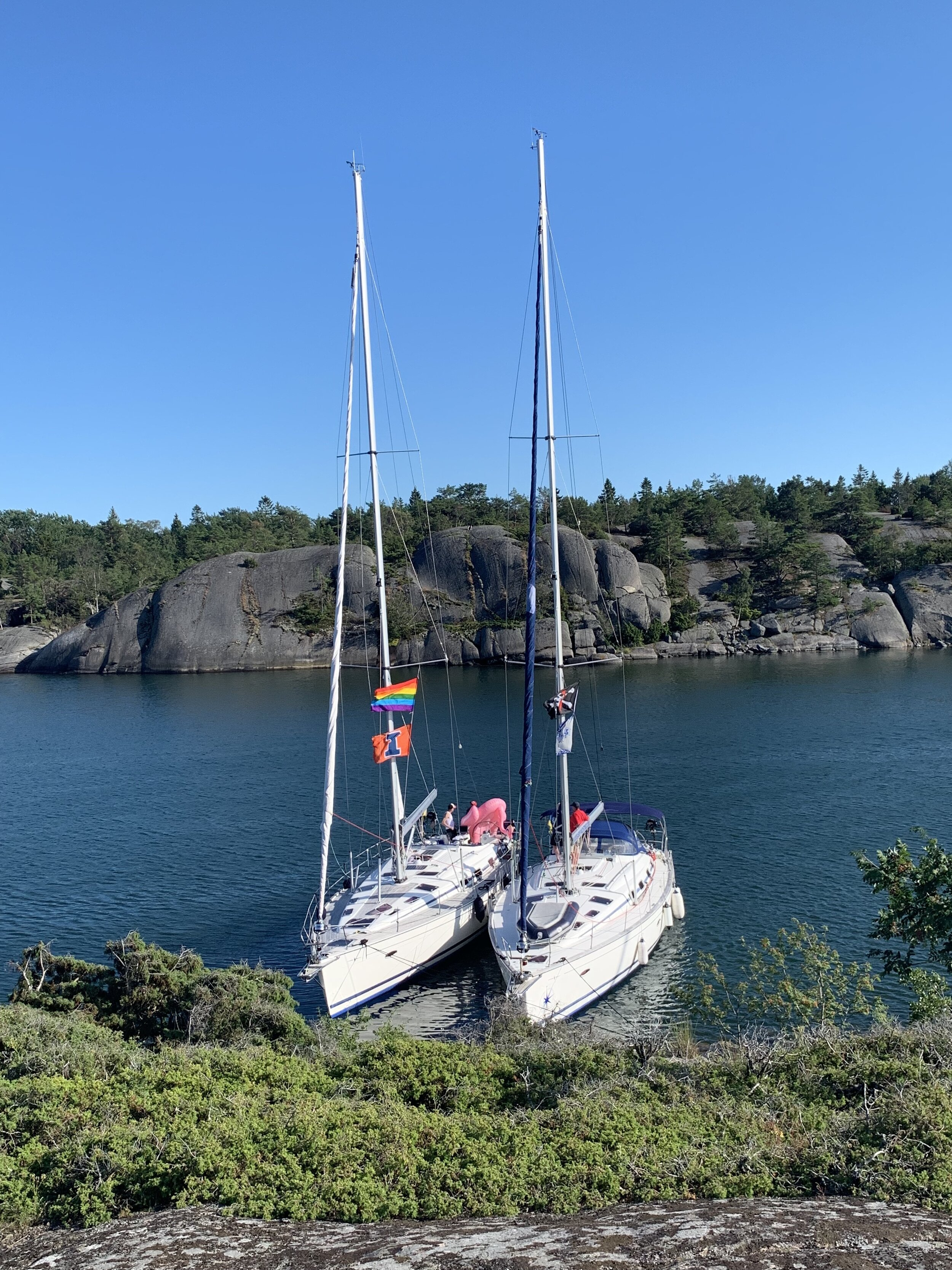 One of our smaller flotillas in Sweden