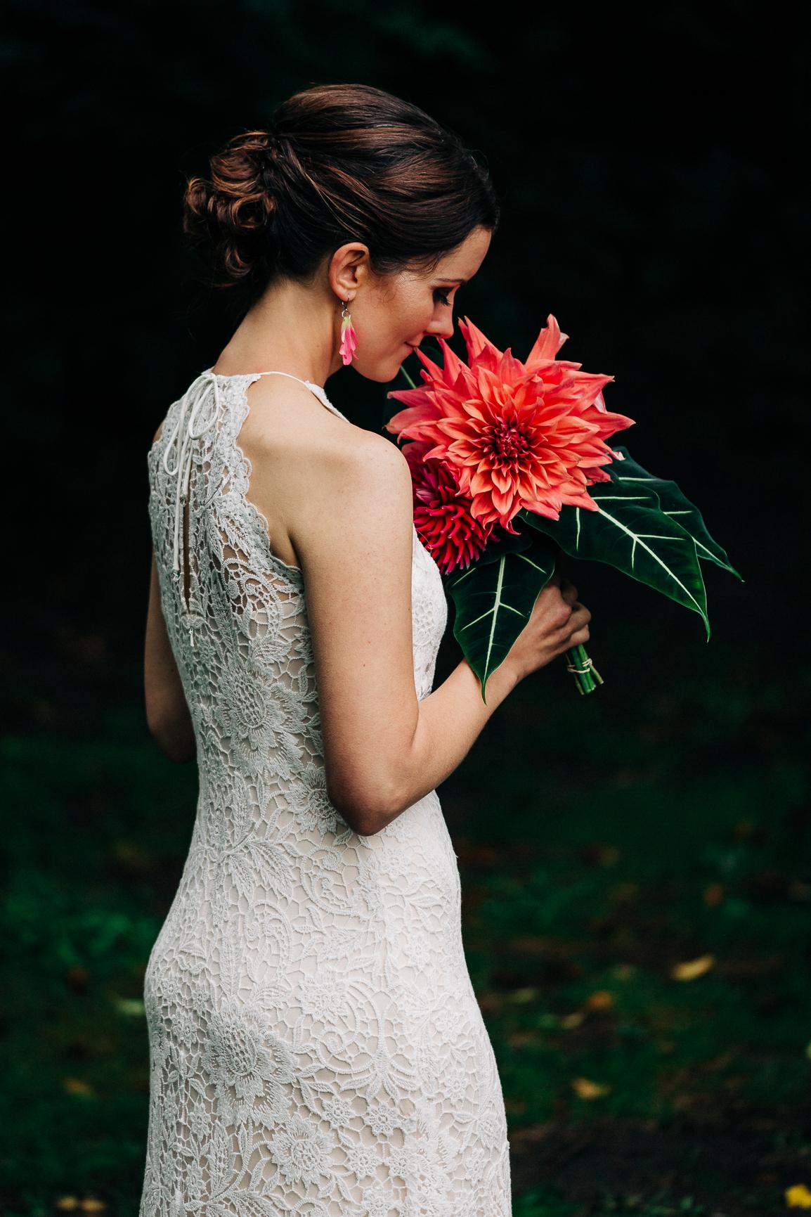 Bridal Session During Vashon Wedding