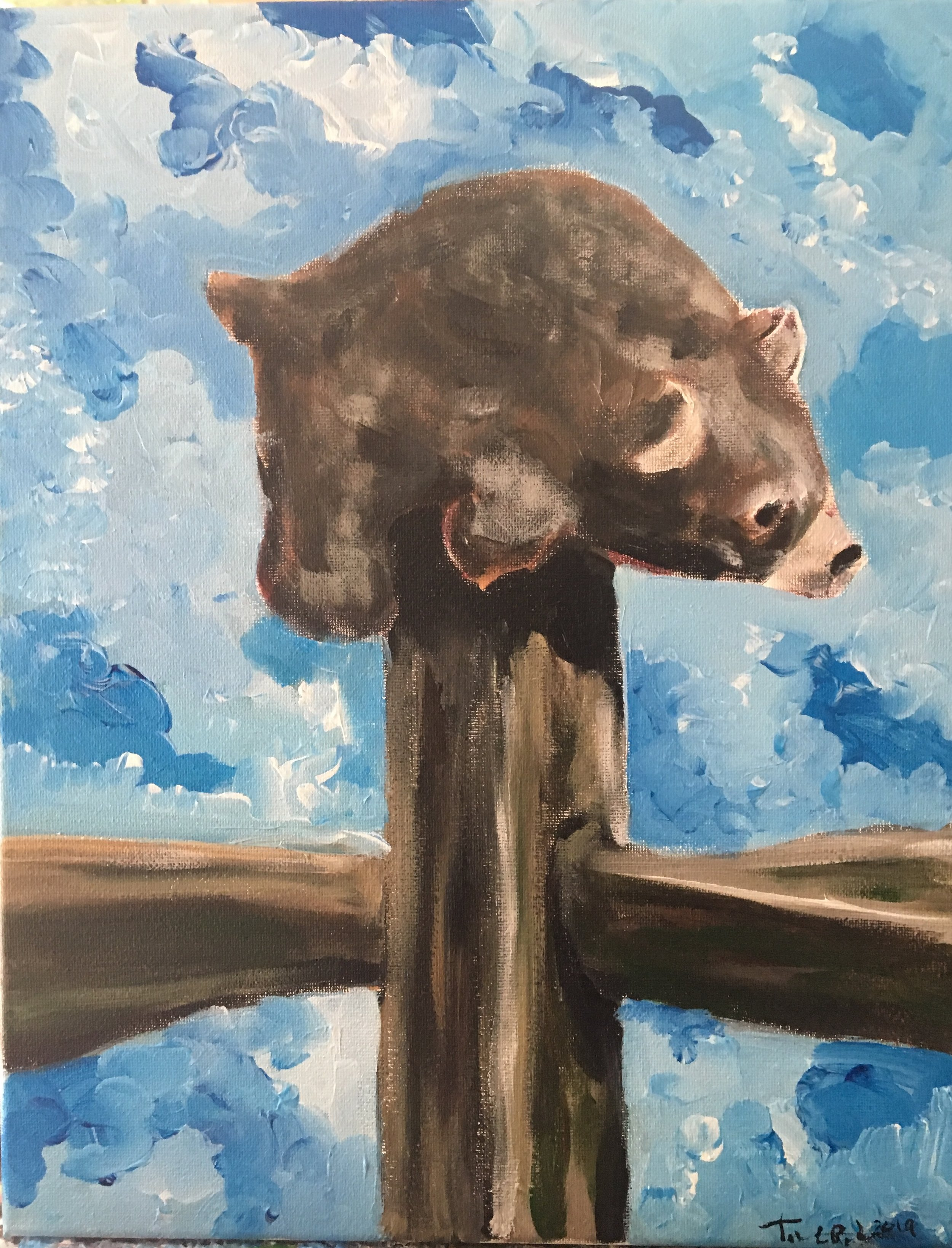 Bear on a Post