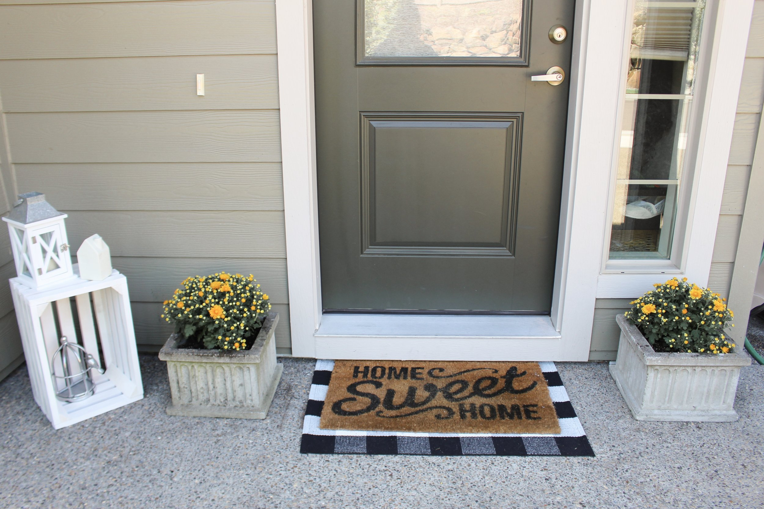 Spent some time yesterday sprucing up our front porch! Spencer's great aunt moved out of her house and . . .