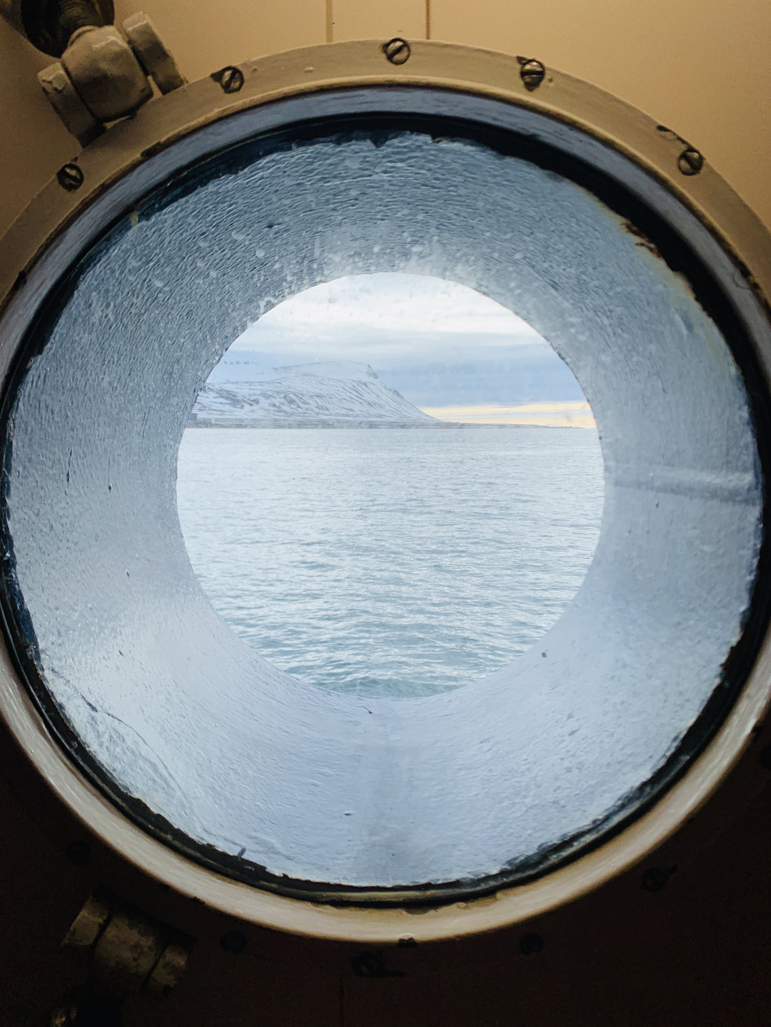 This is the little porthole in my cabin!