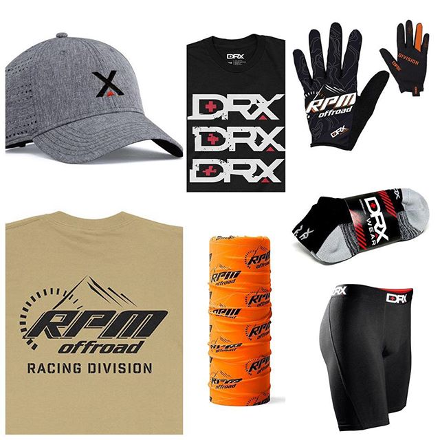 With the help from our friends @rpmoffroad, we are giving away FREE SH*T!!! You can be a lucky follower and win everything pictured in the size of your choice! (Some sizes may vary) Simply: 1. Follow us - @drxwear (duh) 2. Like this post. 3. Tag 3 of your friends in the comments.  We will announce a winner next Thursday (3/21) #drx #motorsport #rpm #offroad #giveaway #fishing #racing #gloves #baja #drxkit