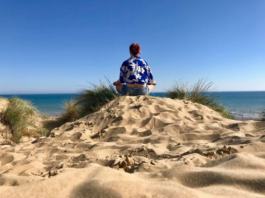 P.S. the photo above was taken in Camber Sands Sussex UK 2018 amazing right! I also like to meditate at bus stops remember it's not about the lotus x