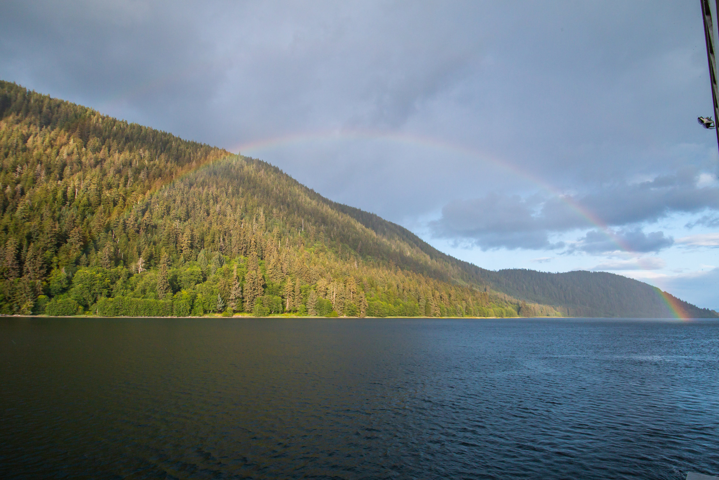 Rainbow landscape, Sitkoh Bay, Southeast Alaska.