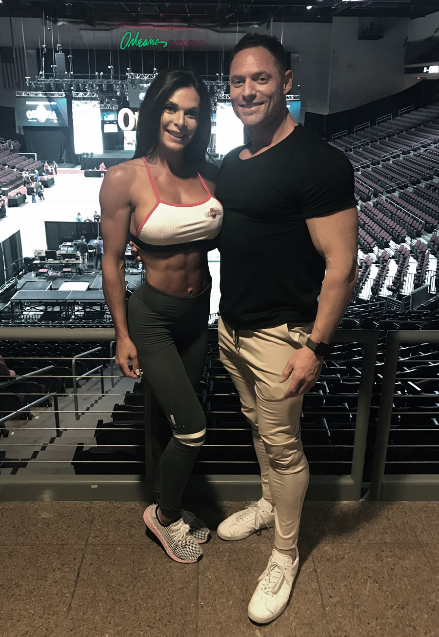 Santa Cruz Power Fitness is owned by Chris Ellis and Camile Periat, professional body builders within the IFBB Pro League. -