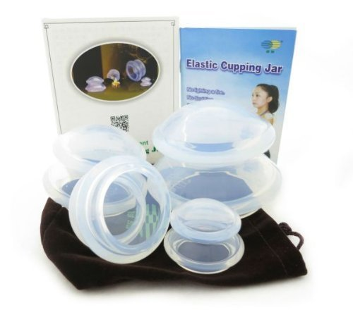 tension tamer (MYOFASCIAL CUPPING SET #1) - This soft cupping set is great for myofascial cupping, general tension relief, and cellulite reduction or scar tissue healing. This set has one of the largest jars available, for larger muscle groups. Highly recommend.