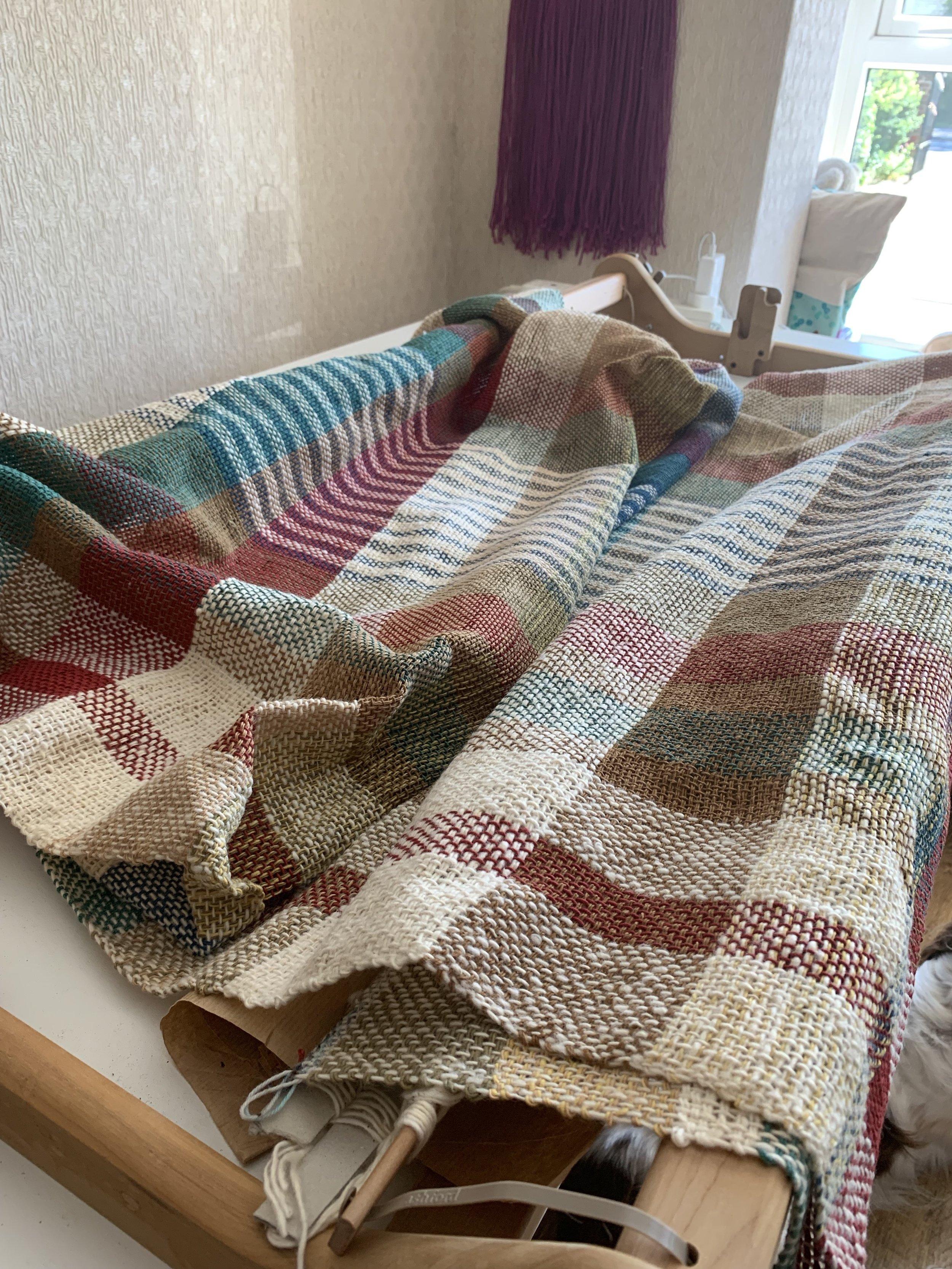 I love the effect produced by the slightly slubby cotton yarn in Hazel's blanket.