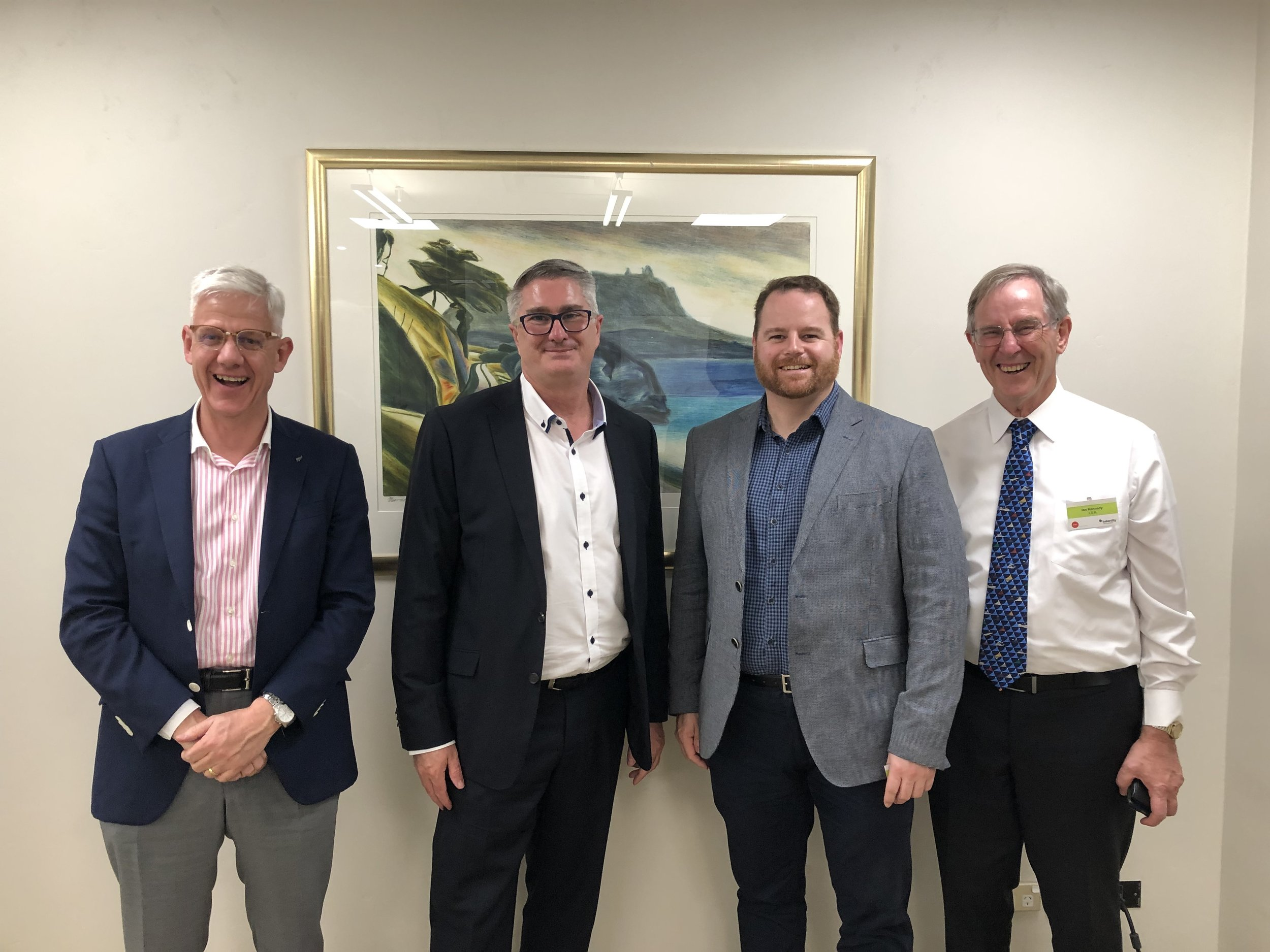 Pictured L-R Jason Reeves BNZ and JNZBC, Matthew Chandler-Wall Aon, Paul McCarrison Aon, Ian Kennedy Chairman JNZBC