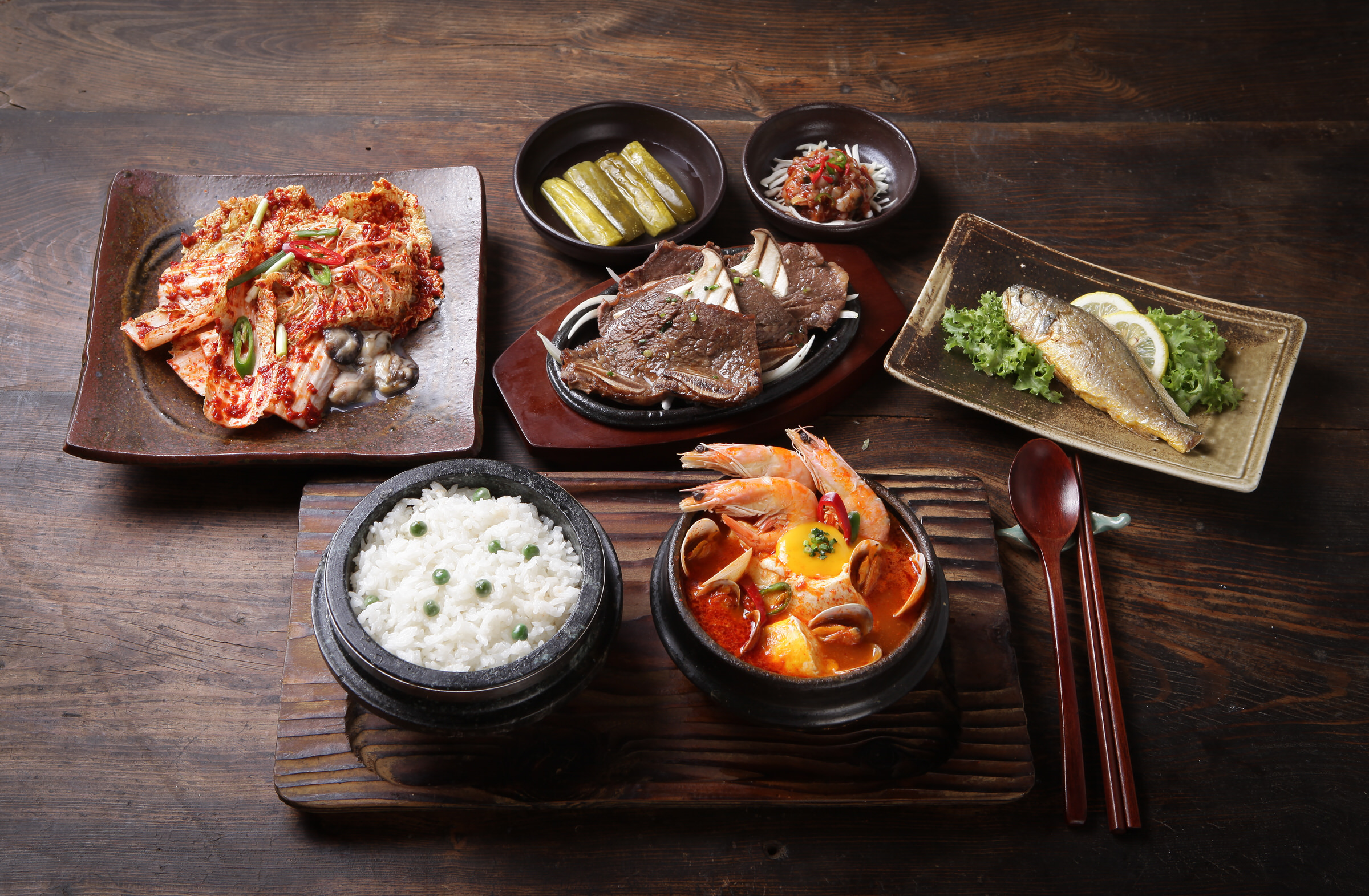 Galbi Combo Dish - Experience our Galbi Combo Dish that highlights our BBQ Short Rib and served with Assorted Soon Tofu.