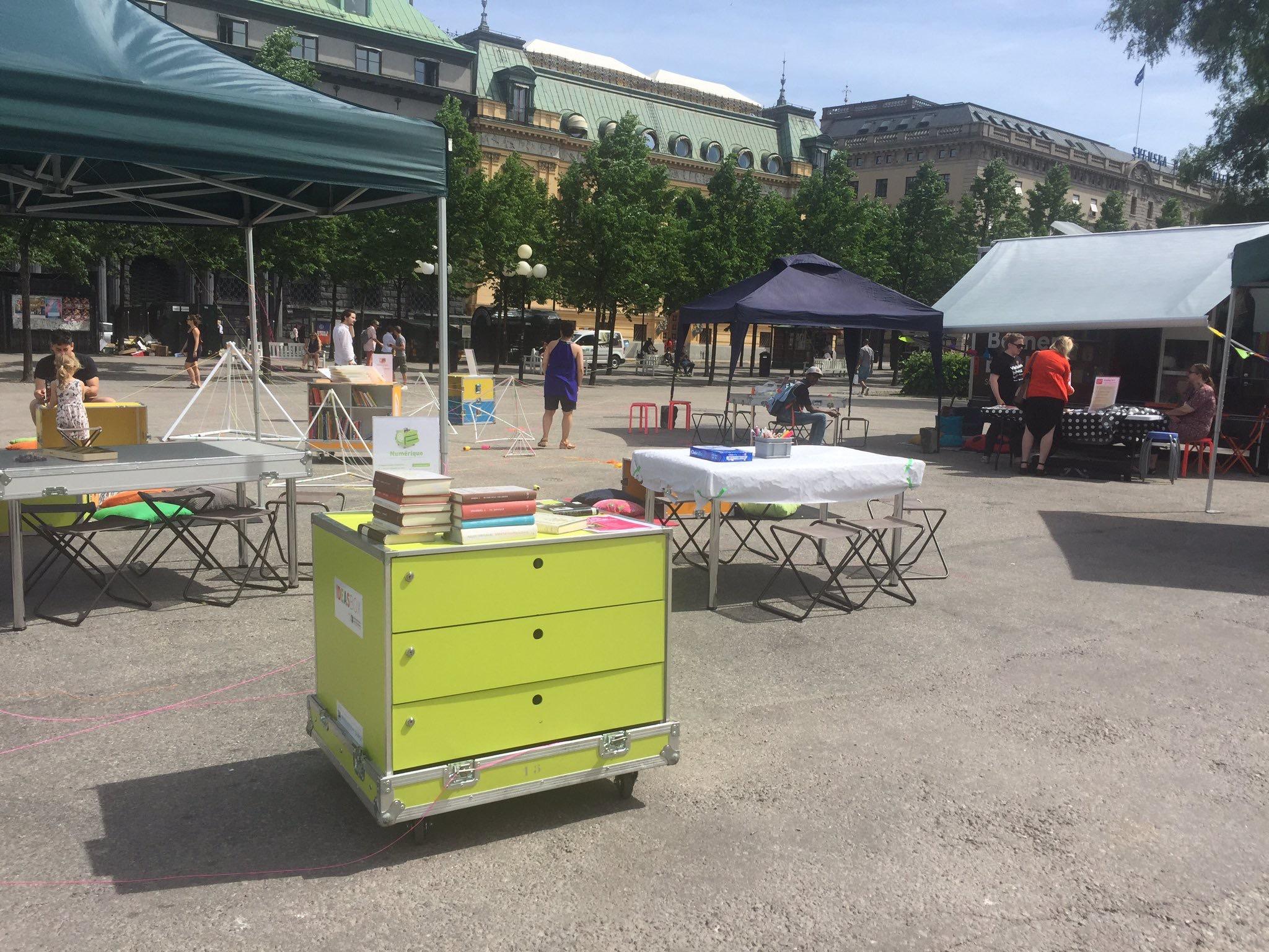 Ideas Box en Kungsträdgården (Estocolmo, Suecia) en junio de 2017.