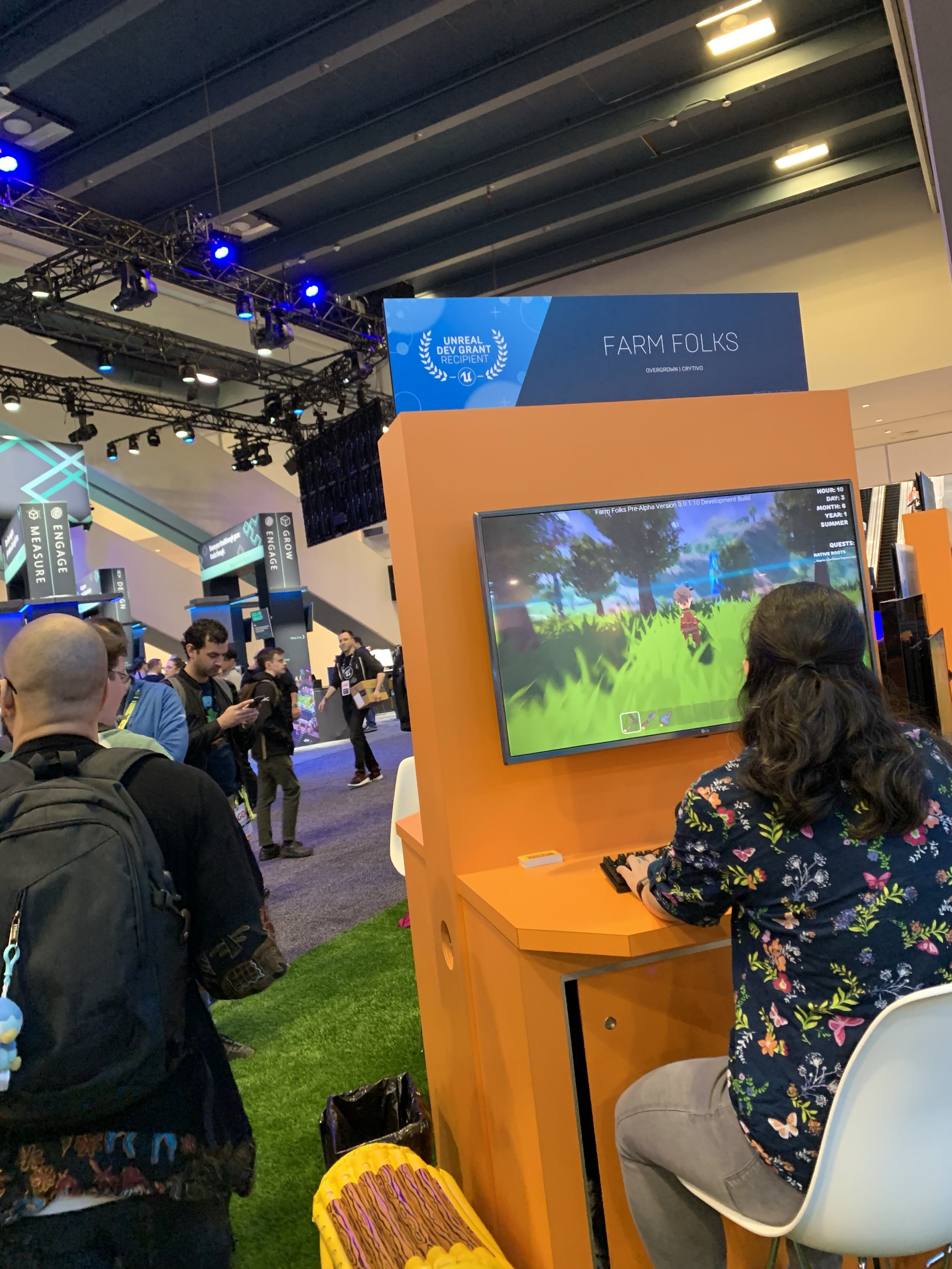 Farm Folks booth at GDC Game Developer Conference 2019