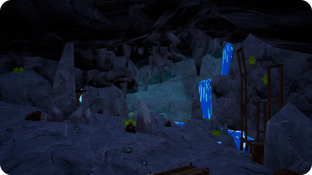 Farm Folks cave caving system mining for ores and minerals crafting farming game.png