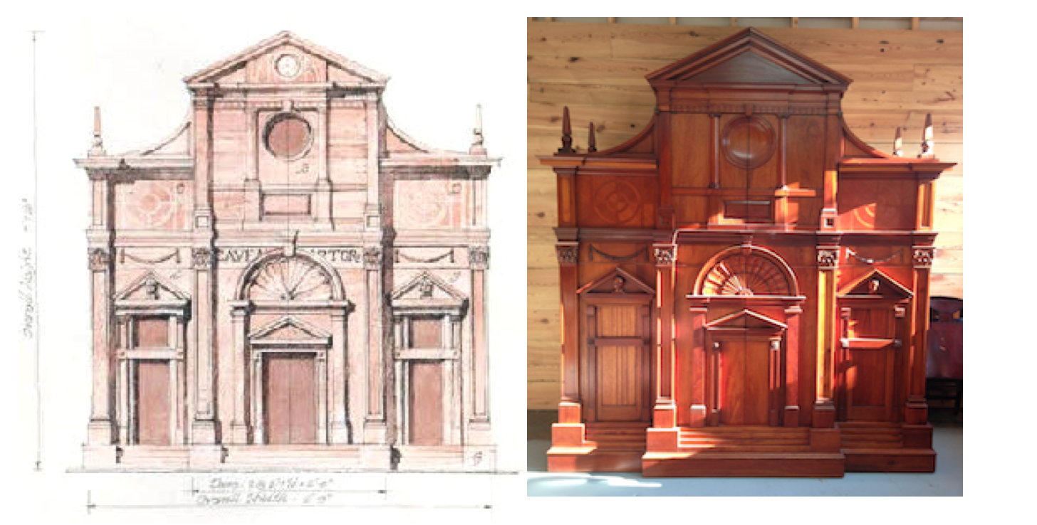 Watercolor rendering (L). Completed in 2009, currently displayed at our main office (R).