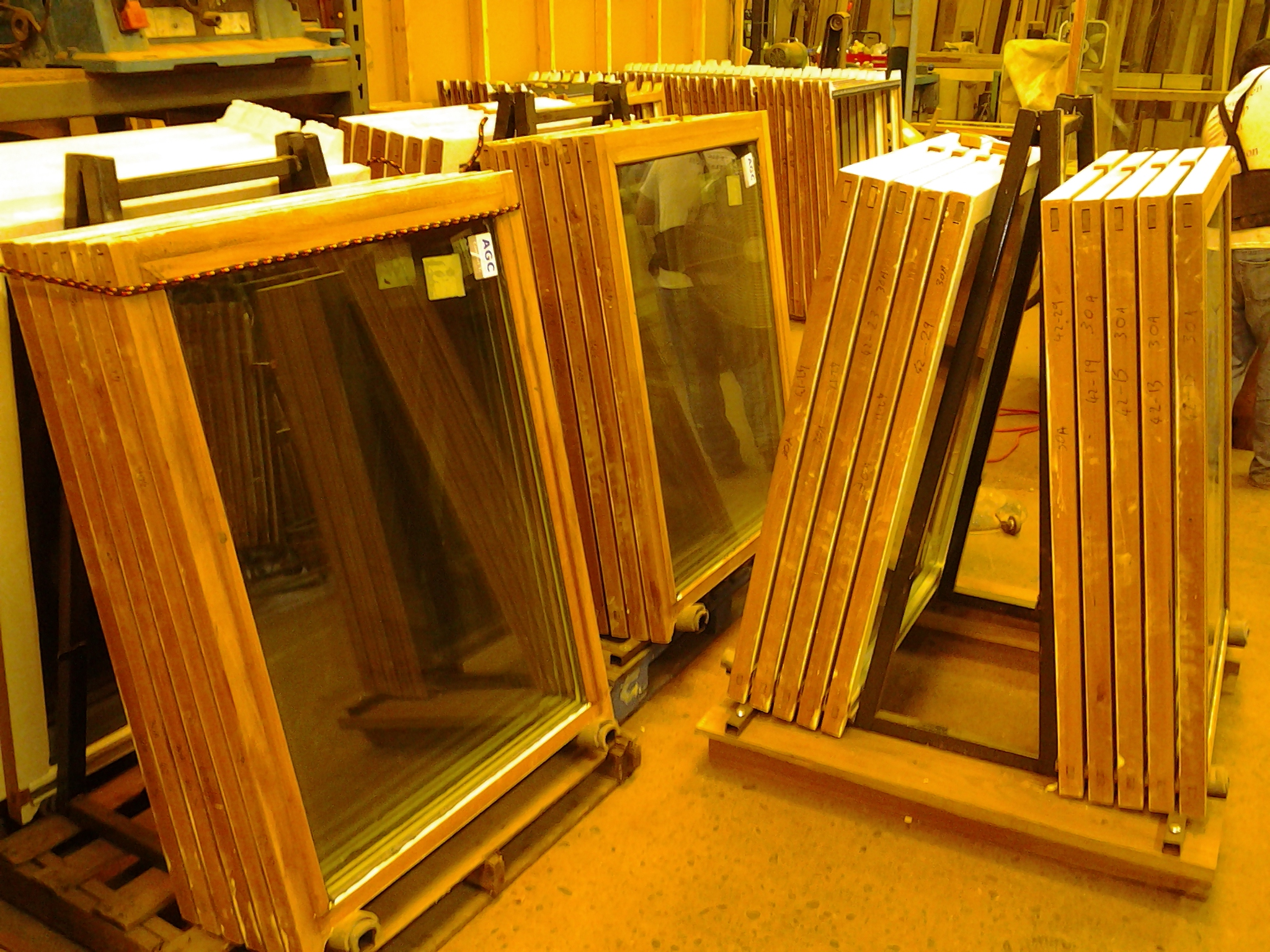 These sash will go back to window frames that are 120 years old.  Glass in them is insulating with low-E film and blast resistant vinyl interlayers.