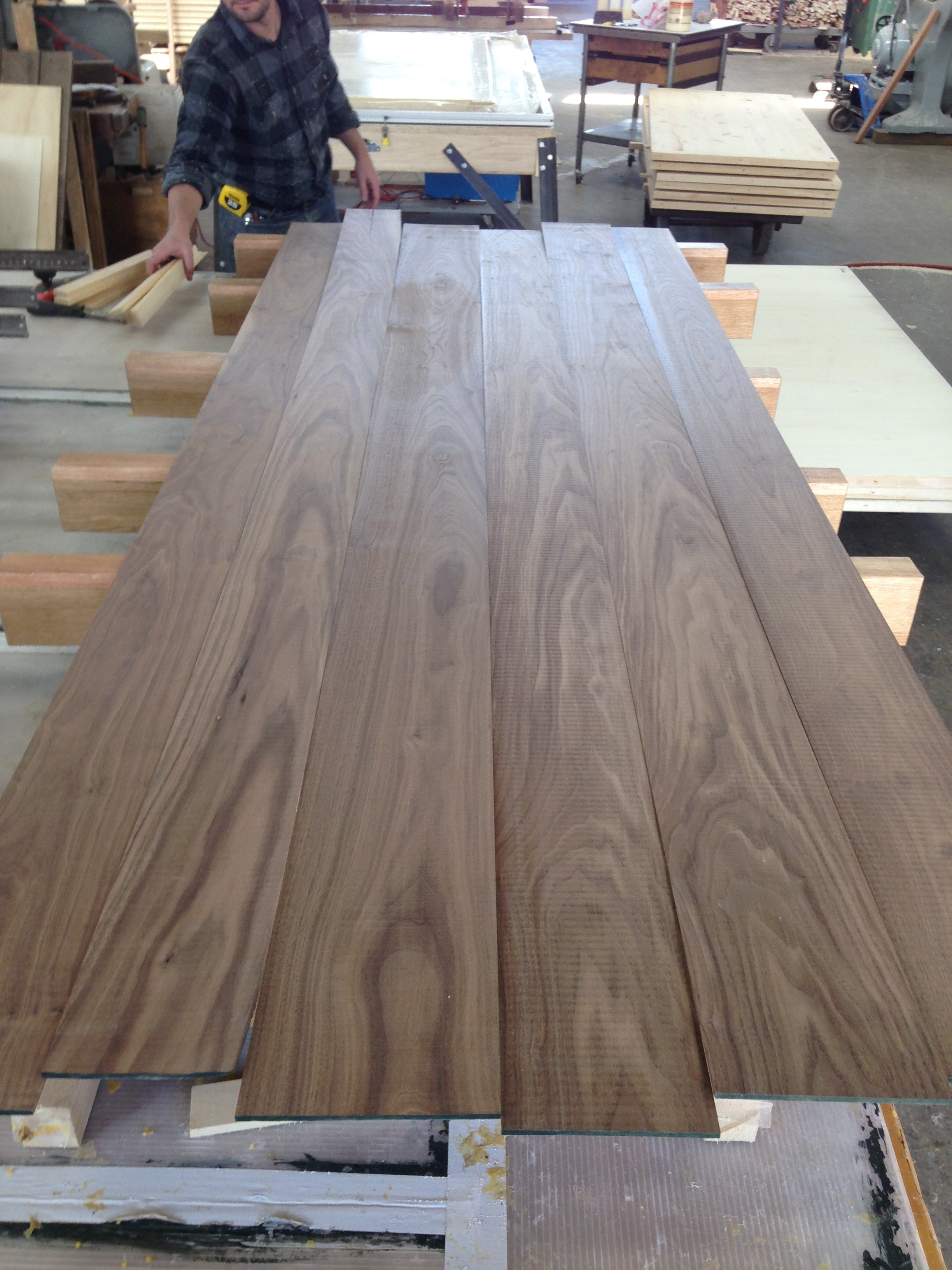 Premium American black walnut mostly goes to veneer mills.  Just sourcing this 100% heartwood free of pin knots in board stock took a bit of looking.