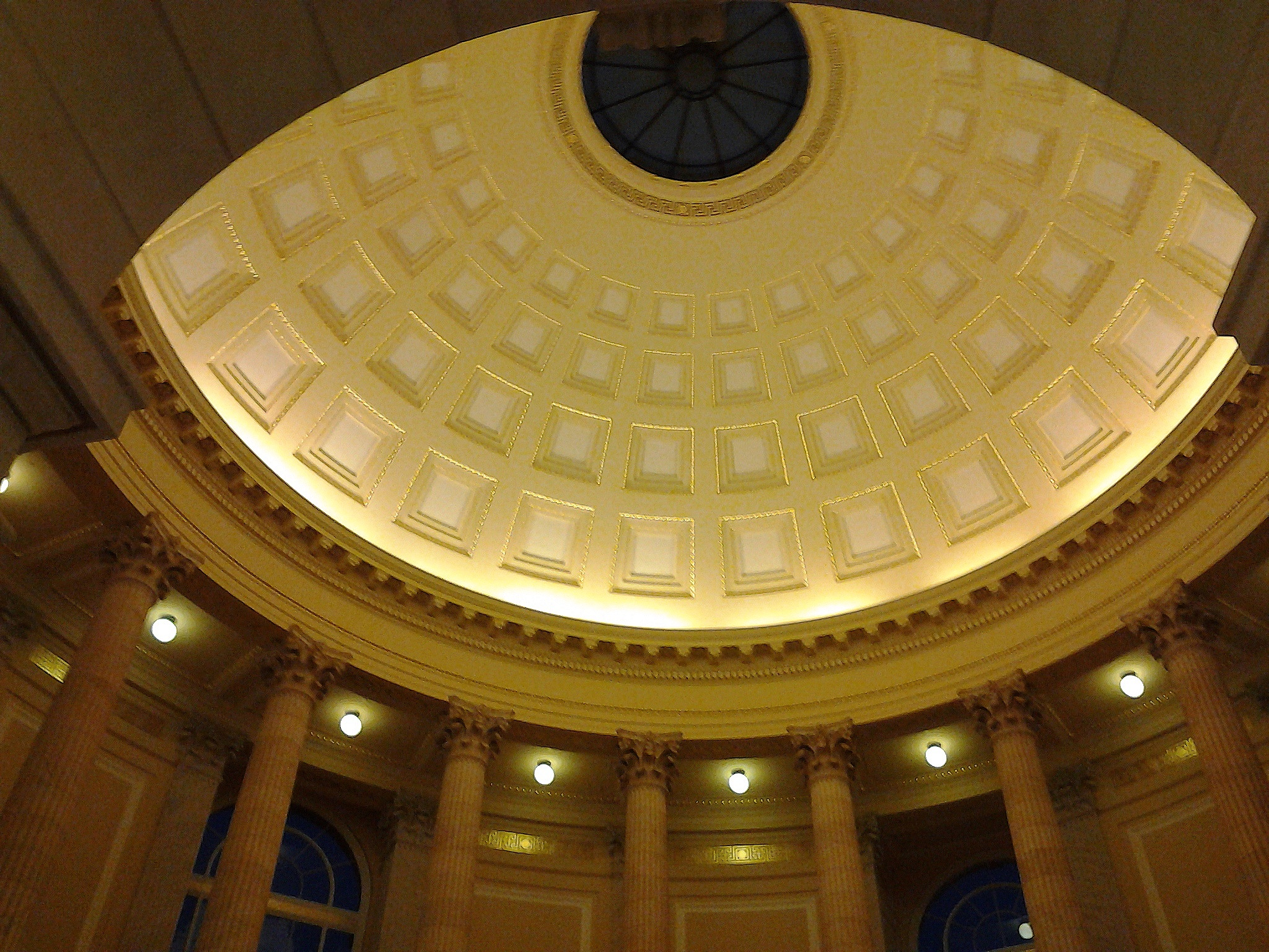 The rotunda at Cannon is beautifully detailed and not over-scaled.