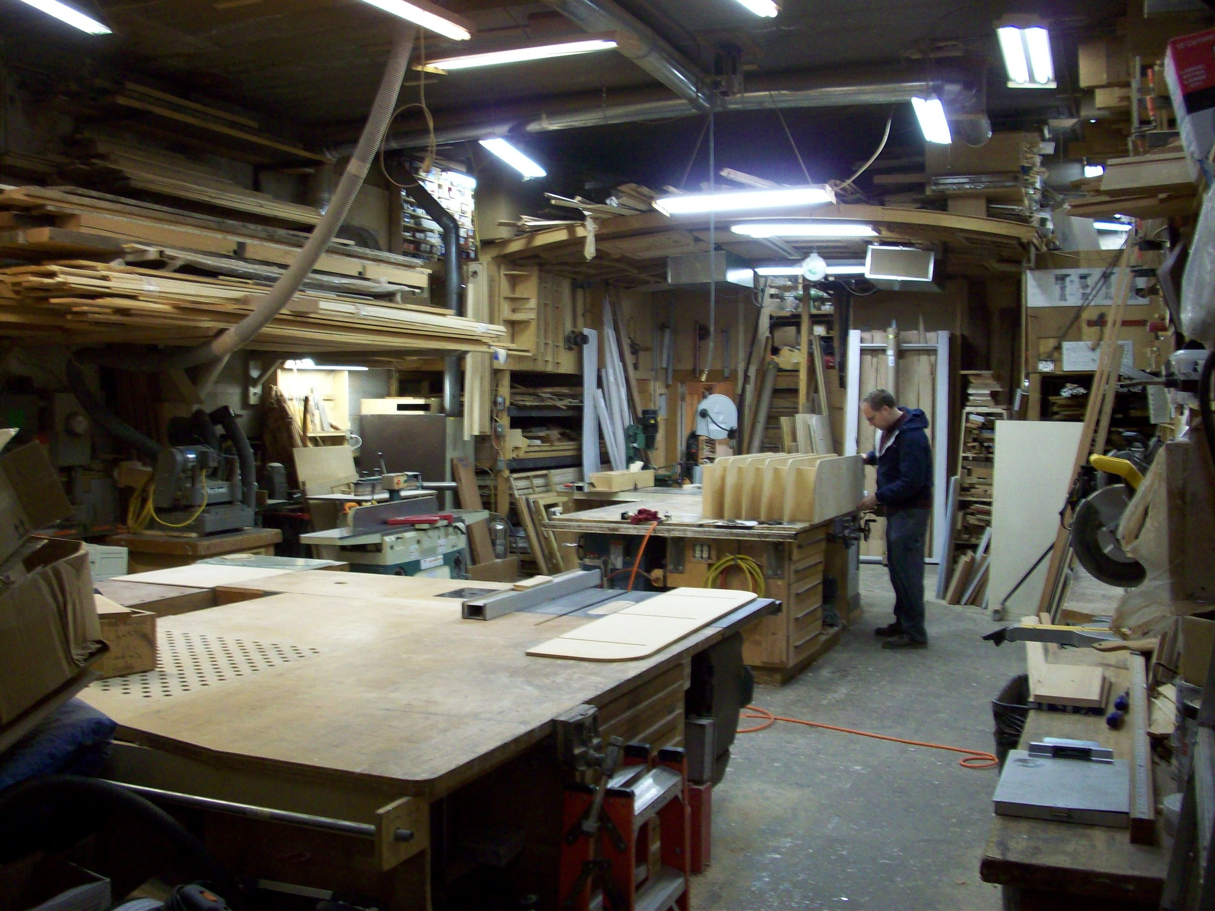 This was the wood shop for 20 years.  We did projects like Postal Square and Eastern Market from this small and intensely efficient space.  This is 1,200 SF, our wood working facility is now over 18.000 SF.
