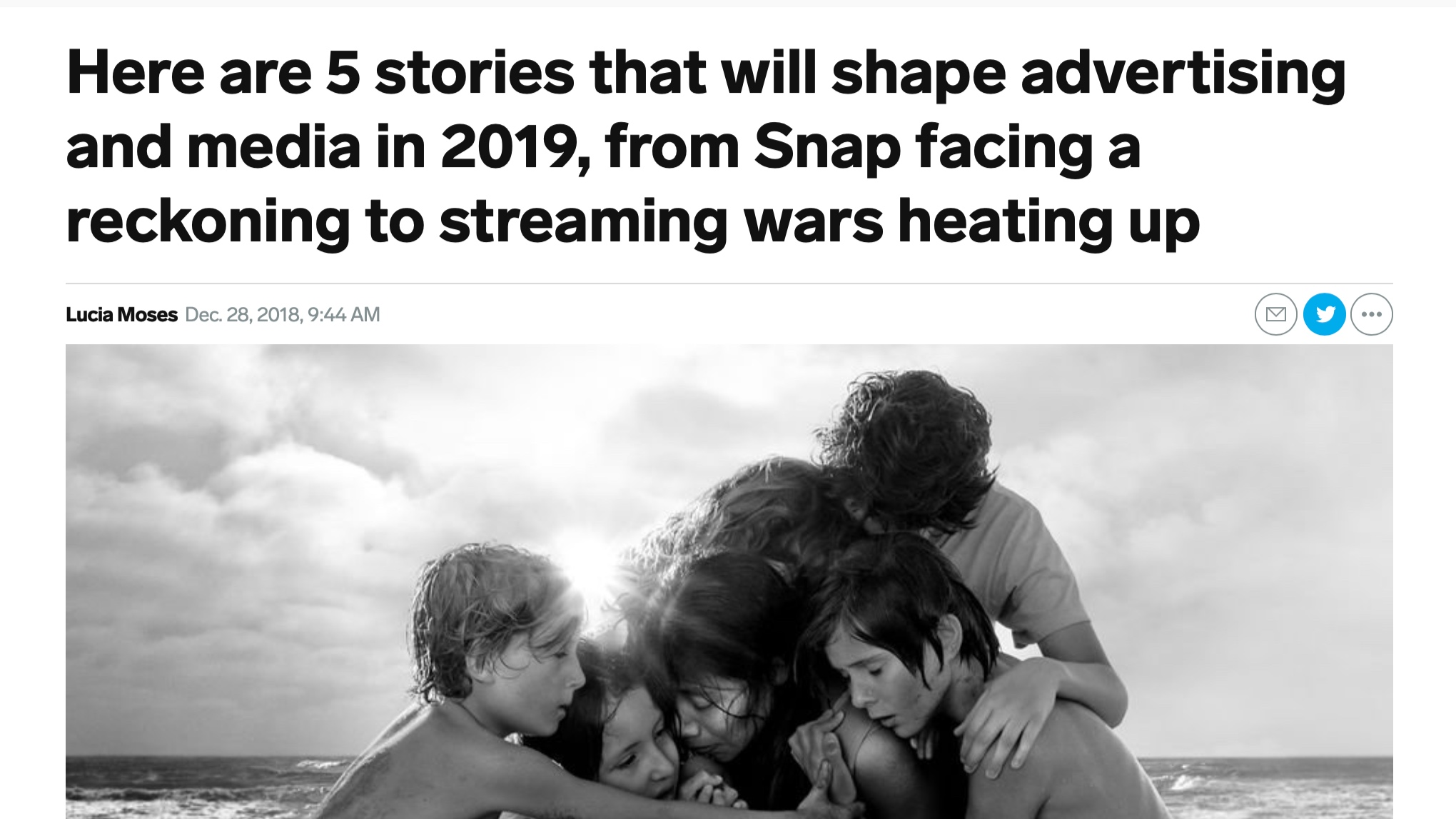 Business Insider - Here are 5 stories that will shape advertising and media in 2019, from snap facing a reckoning to streaming wars heating up