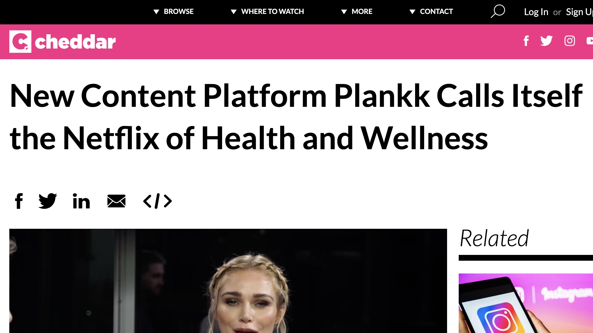 Cheddar - New Content Platform Plankk Calls Itself the Netflix of Health and Wellness