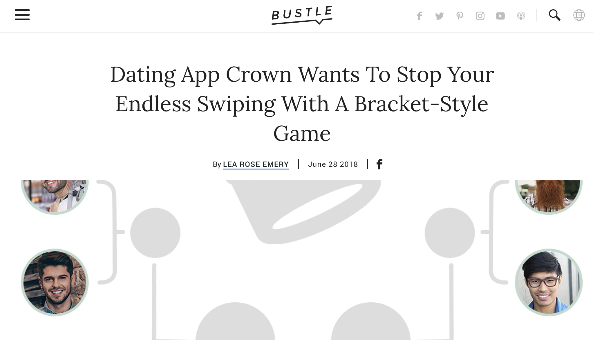 Bustle - Dating App Crown Wants To Stop Your Endless Swiping With A Bracket-Style Game