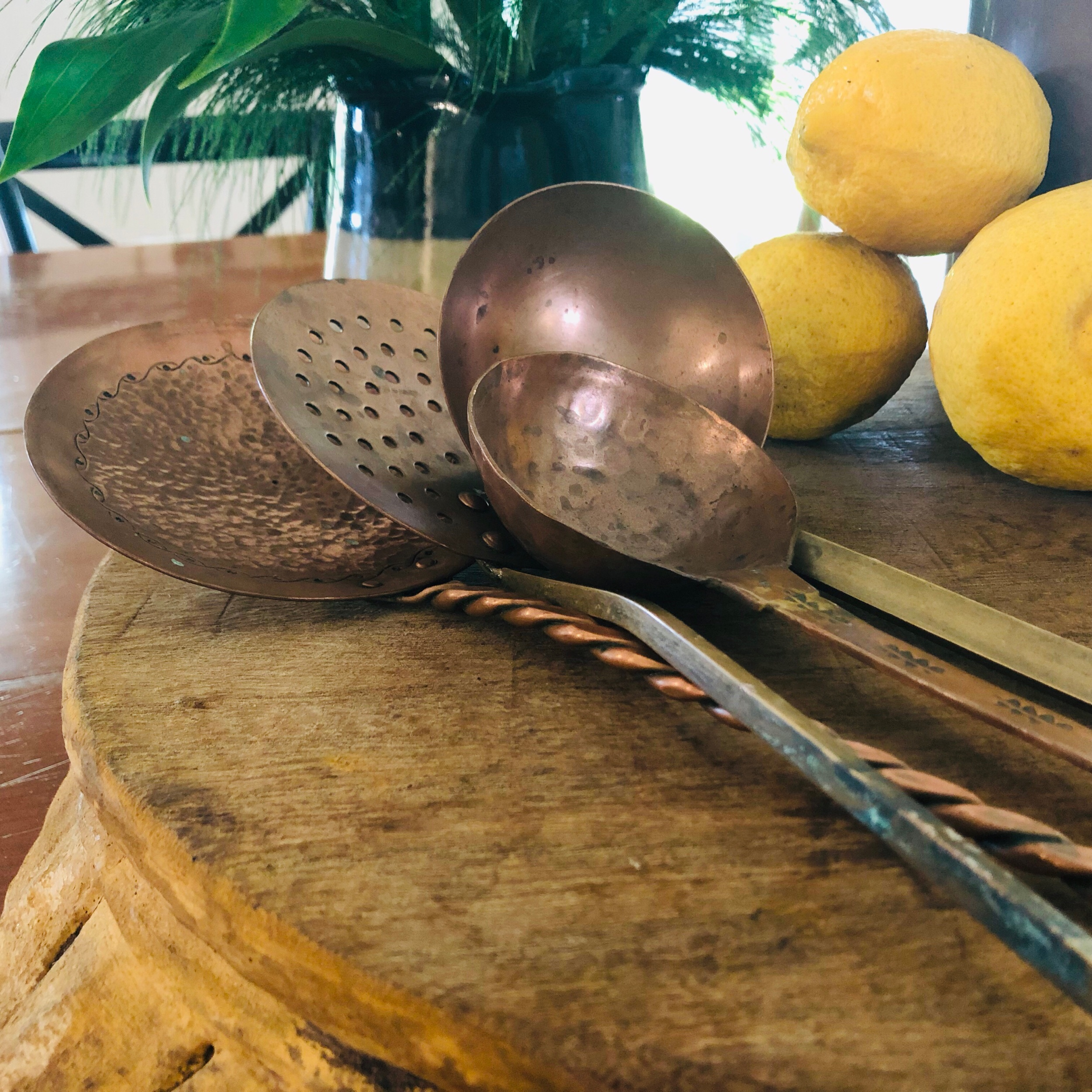 Copper utensils set of 4 $150