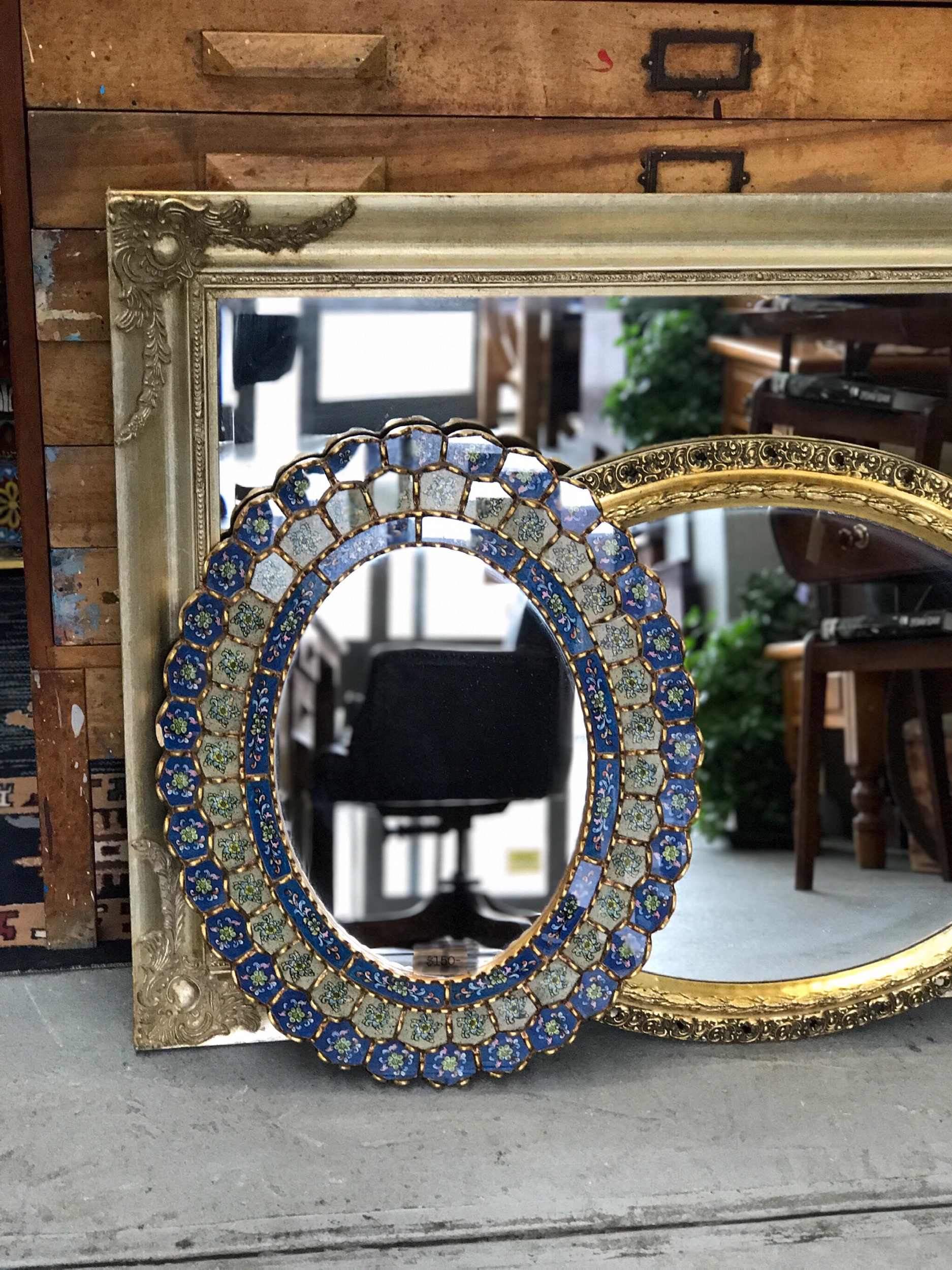 We've had so many mirrors come through the shop, I've lost count. If you're looking for something a bit different in the mirror department, let us know…..we may just be able to help.