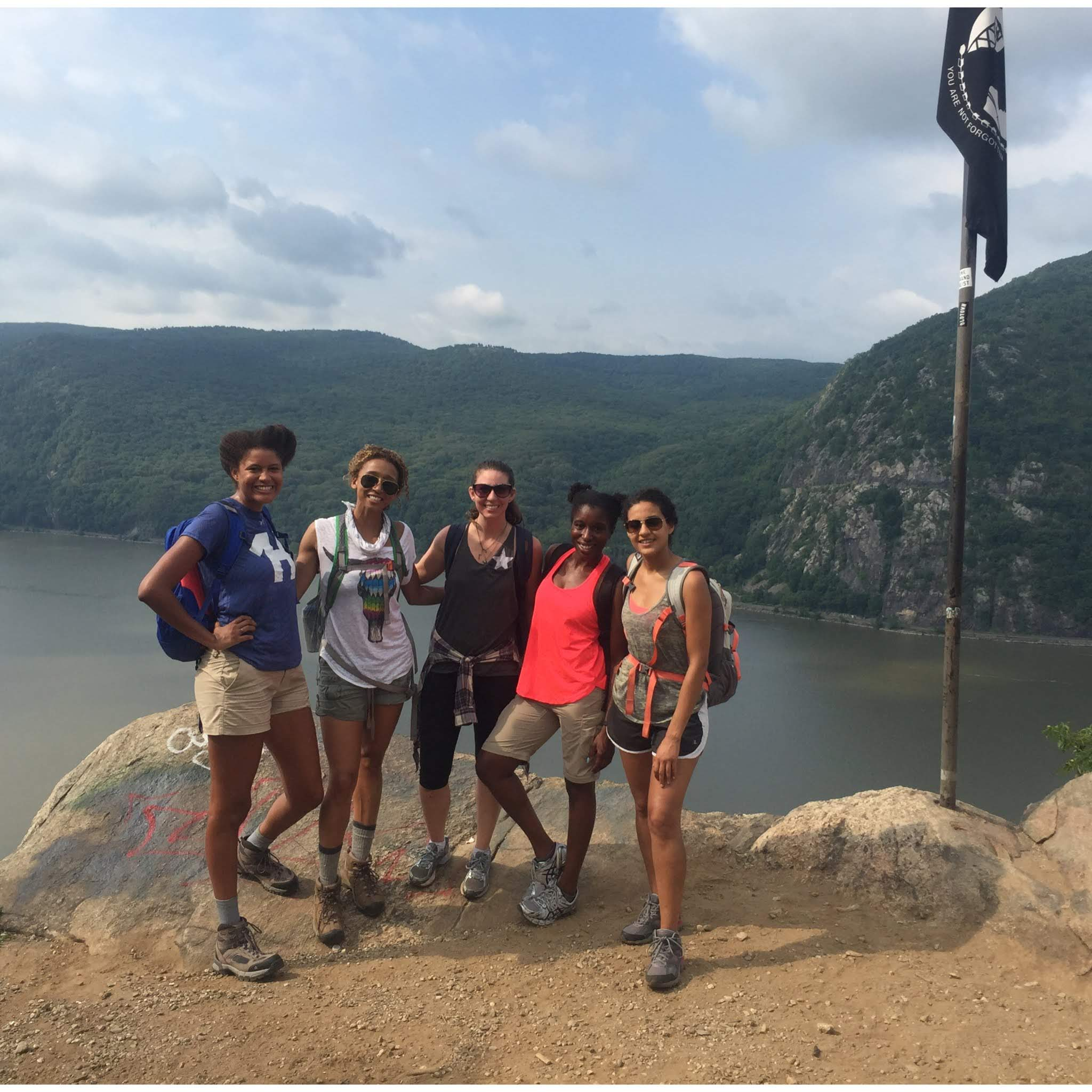 Powerful women hike